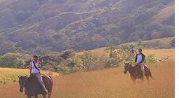 Escursioni a cavallo nella Caldera vicino a Boquete, Panama