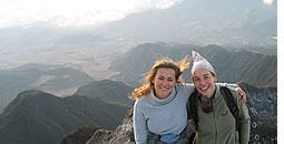 Op de top van Volcan Baru in Chiriqui, hoogste punt van Panama